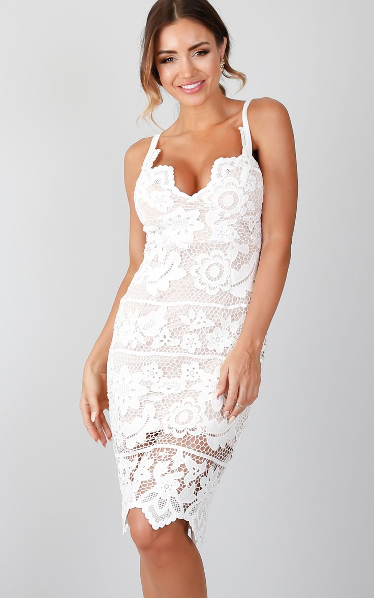 Milly white piper party dress