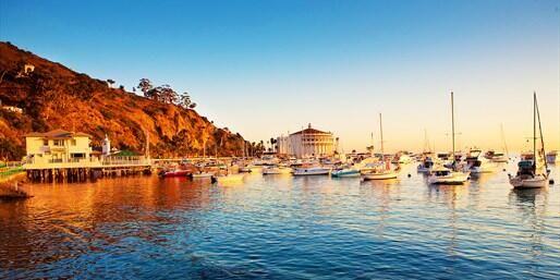 The light hits just right in Avalon Bay, Catalina Island, CA