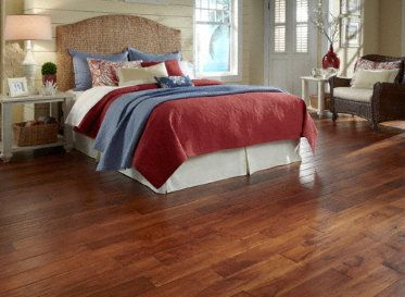 Looking for that comfy feel under your feet get it with a handscraped floor like golden teak - D floors the future under your feet ...