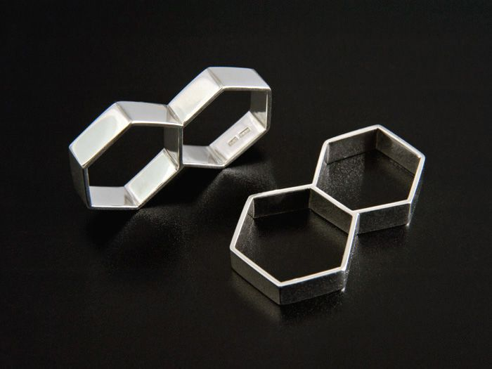 Kenno Two Finger Rings by Jewellery Designer Tytti Lindström