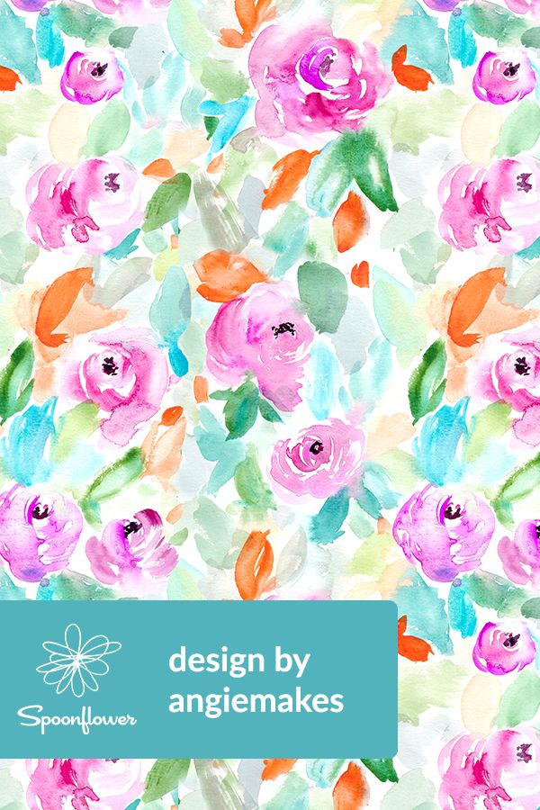 vibrant design modern floral wallpaper. Pretty Purple Watercolor Floral by angiemakes  Handpainted watercolor design in bold vibrant colors on fabric 201 best Designs Flowers Bouquets and Leaves Indie
