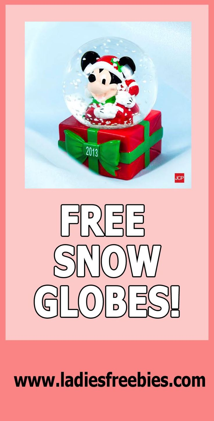 FREE SNOW GLOBES AGAIN!!!!! Check it out on ladiesfreebies.com! Please like, repin and share! Thanks! #snowglobe