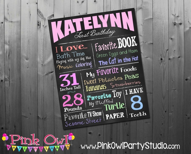 Pin by sarah churchwell on birthday party ideas pinterest for First birthday chalkboard template