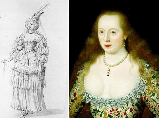 И королева, и её придворные дамы, принимая участие в подобных увеселениях, открывали в глубоких квадратных вырезах столько, сколько не решаемся открыть в своих вечерних платьях мы сейчас.