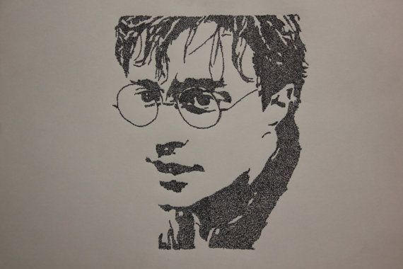 """Harry Potter (Deathly Hallows) - hand written (""""Harry Potter The Boy Who Lived"""") typography"""