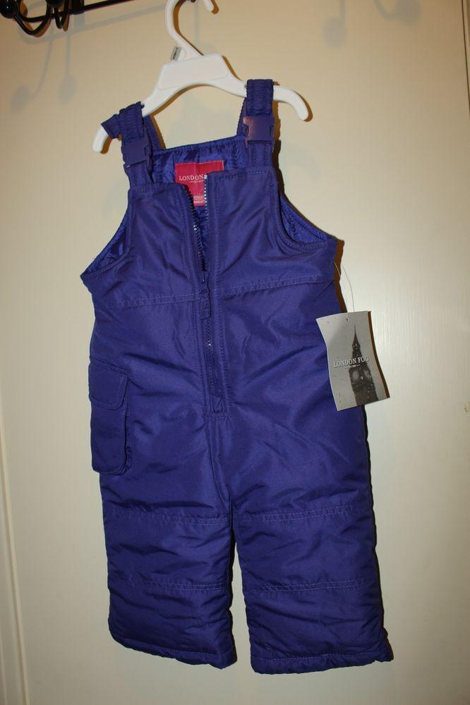 32736e3a1 NWT Girls London Fog Snow Ski Bibs Snowbibs Size 12 Months 12M ...