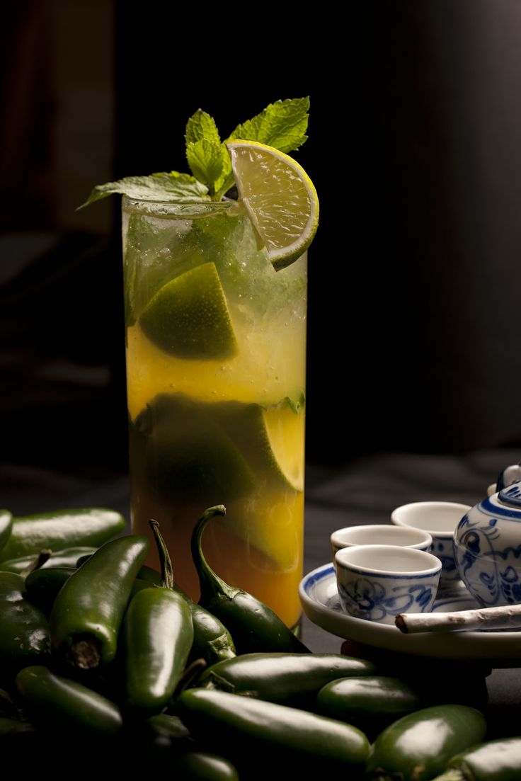 TEEZ BASIL - Basil, lime, brown sugar, rum, passion fruit, soda....SOOO REFRESHING!!!!