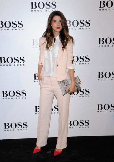 A Feminine Touch : Take a lesson from Juana Acosta on how pastel pink adds a feminine touch to masculine lines.