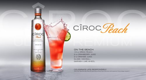 """A beautiful Cocktail for the ladies called the """"Ciroc Peach on the Beach"""""""