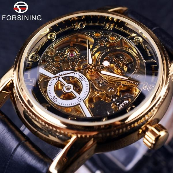 Item Type: Mechanical WristwatchesFeature: NoneModel Number: FOR856Band Width: 22 mmDial Window Material Type: GlassBand Material Type: LeatherMovement: Automatic Self-WindStyle: Fashion & CasualDial Diameter: 4.0 mmBoxes & Cases Material: PaperBand Length: 25.0 cmCase Thickness: 14 mmCase Material: Stainless SteelBrand Name: FORSININGWater Resistance Depth: No waterproofClasp Type: BuckleGender: MenCase Shape: RoundBand With: 20mm to 29mmBand Width: 20mmClasp Type: BuckleItem...