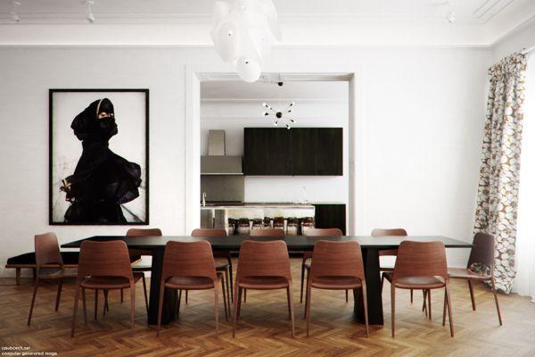 Piaulin´s Interior by Jakub Čech, via Behance