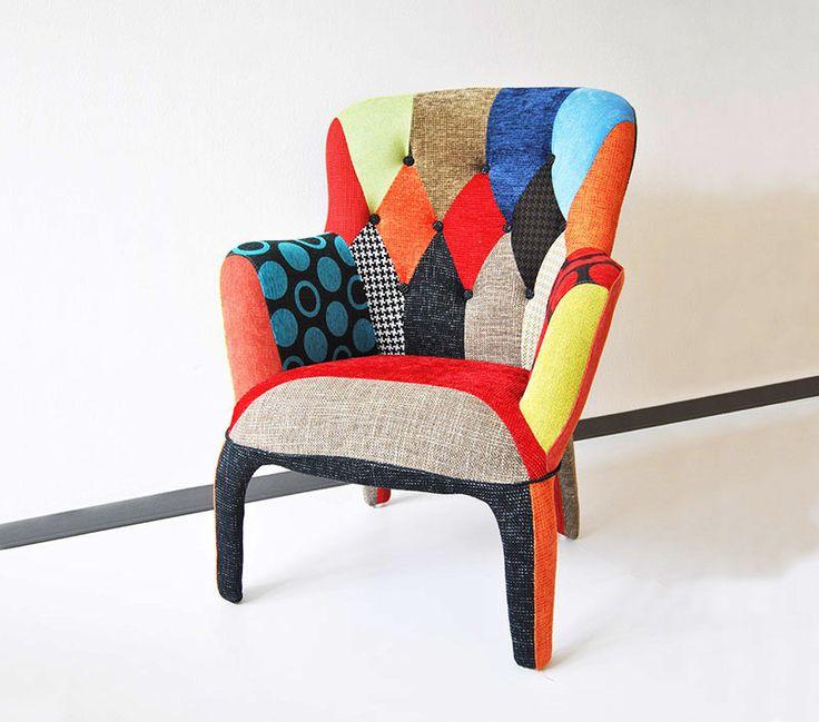 Sbarazzina: poltrona design rivestita in tessuto patchwork che donerà colore e vitalità all'ambiente della tua casa.  #design #furniture #armchair #seat