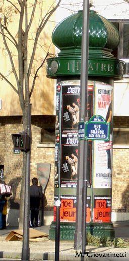 Paris 10e - Le gibet de Montfaucon : plaque de la rue de la Grange aux Belles .
