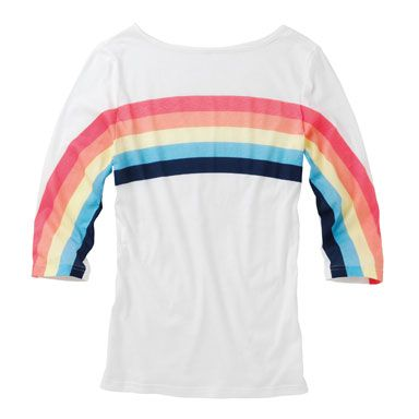 Rainbow shirt... You need this one.