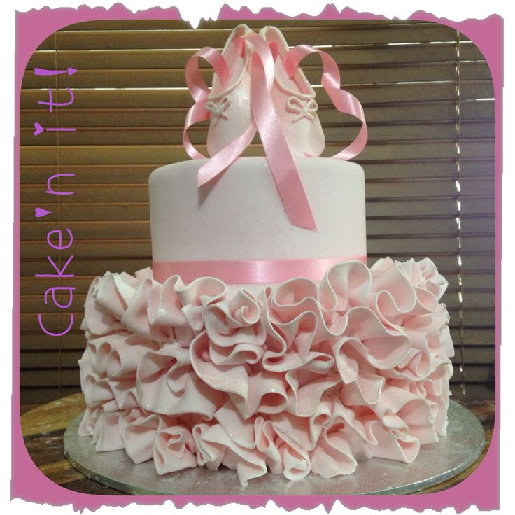 Ballerina cake, tutu cake, ballet shoes, birthday cake two tier homemade