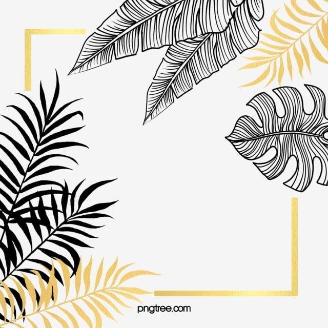 Folhas De Plantas De Ouro Preto Folhas Pintadas A Mao Preto Pintado A Mao Folha Imagem Png E Psd Para Download Gratuito Plant Leaves Gold Leaf Painting Clip Art Borders