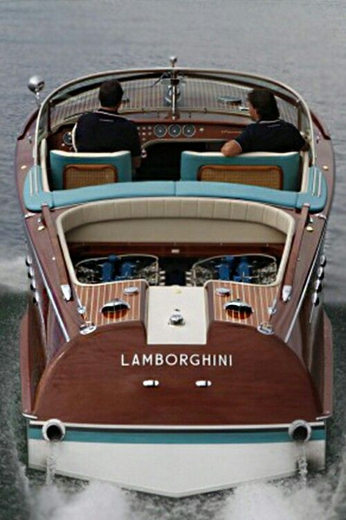 Riva powered by 2 Lamborghini V12 engines
