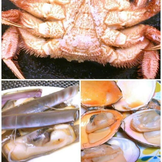 土曜の夜は海鮮祭り! 初マテ貝は、、、ごめんなさい。 形状が男性の、、、、、、にしか見えなくて(笑) - 55件のもぐもぐ - 海鮮祭り!毛がにとマテ貝、白貝 by shizt