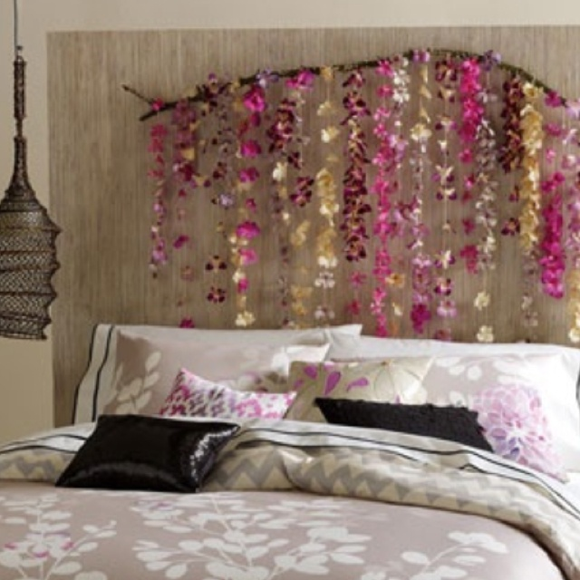 32 best images about fake flowers on pinterest for Fake headboard