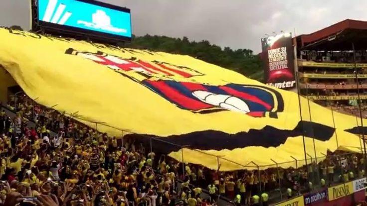 Conmebol destaca bandera gigante de Barcelona en la Copa #Barcelona #BarcelonaSportingClub