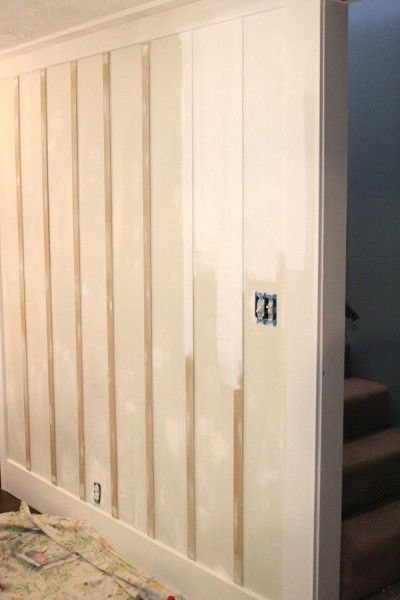 Whole wall board and batten wall treatment