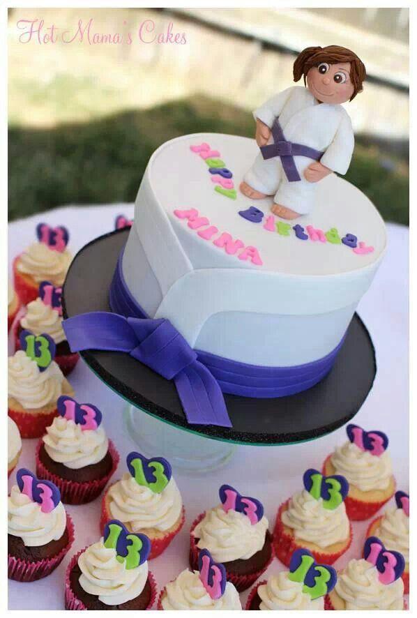 Karate cake and cupcakes