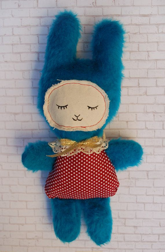 Sweet Dreamer Bunny Plush OOAK Retro Vintage by MoonBratCosplay
