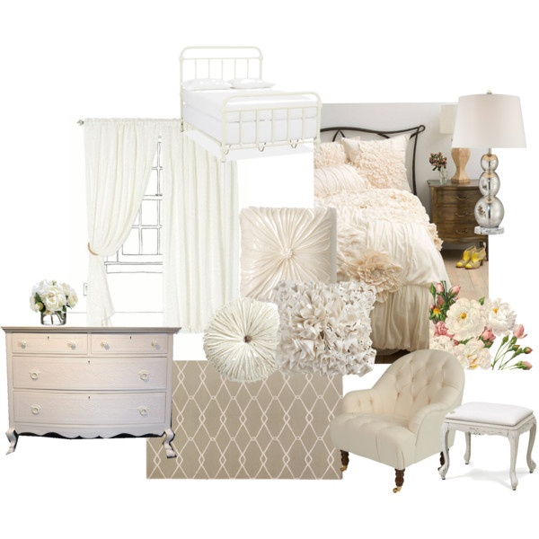 """Ivory Bedroom"" by rachellynnphotography on Polyvore"