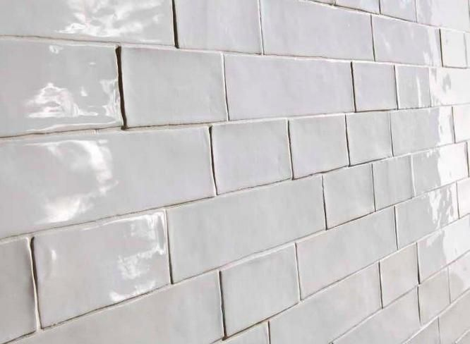 Awesome Wavy Gl Subway Tile Peachy