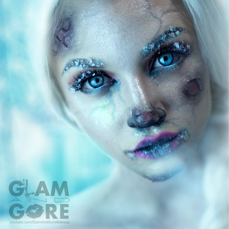 "Glam and Gore! My most favorite makeup artist ever!   ""Frozen Elsa makeup For a tutorial on this look visit: www.youtube.com/GlamAndGoreMakeup For more makeup looks check out: www.instagram.com/Mykie_"""