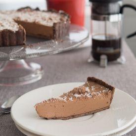 Mocha Cheesecake Tart [eatingwithkatie]