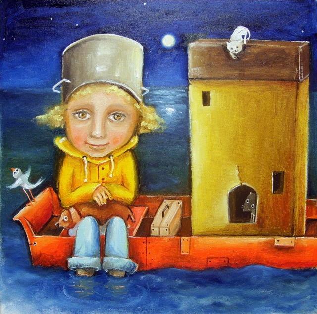 Noah   - oil painting by Monica Blatton