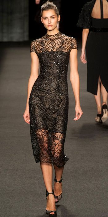 Runway Looks We Love: Monique Lhuillier - Monique Lhuillier from #InStyle  Fall 2014 RTW
