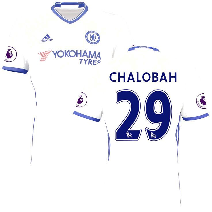 Nathaniel Chalobah Chelsea adidas 2016/17 Third Replica Jersey - White - $114.99