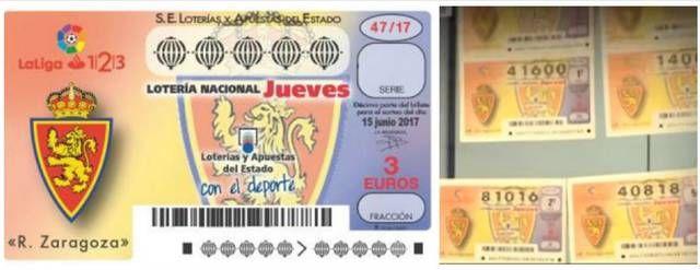 Resultado de imagen de decimo loteria nacional real zaragoza