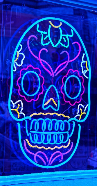 austin // texas // 6th street // day of the dead: all saints tattoos     http://www.allsaintstattoo.com/#!__home