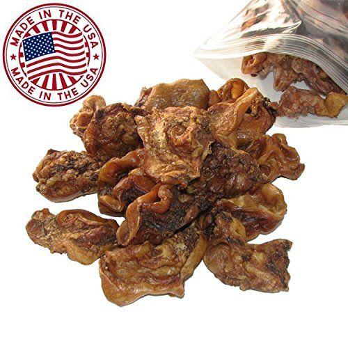 Sliced Pig Ears for Dogs, 1.5 lb bag (250 Pack) - Bulk Dog Dental Treats & Pork Chews, Made in USA, American Made