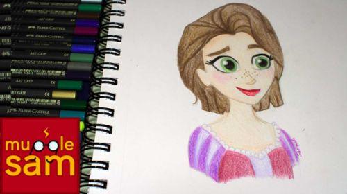 New video! Rapunzel Drawing by Sophia Mugglesam https://www.youtube.com/watch?v=O86bYdZhO_A