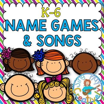 Play these fun Names games during the first week back to school to build classroom community, team building all year long. Can be used as brain breaks, welcoming time and more. K-6  Product Includes  15 Songs and Games in Poster and Mini-Card Size  4 Songs (with Mp3) 11 Games