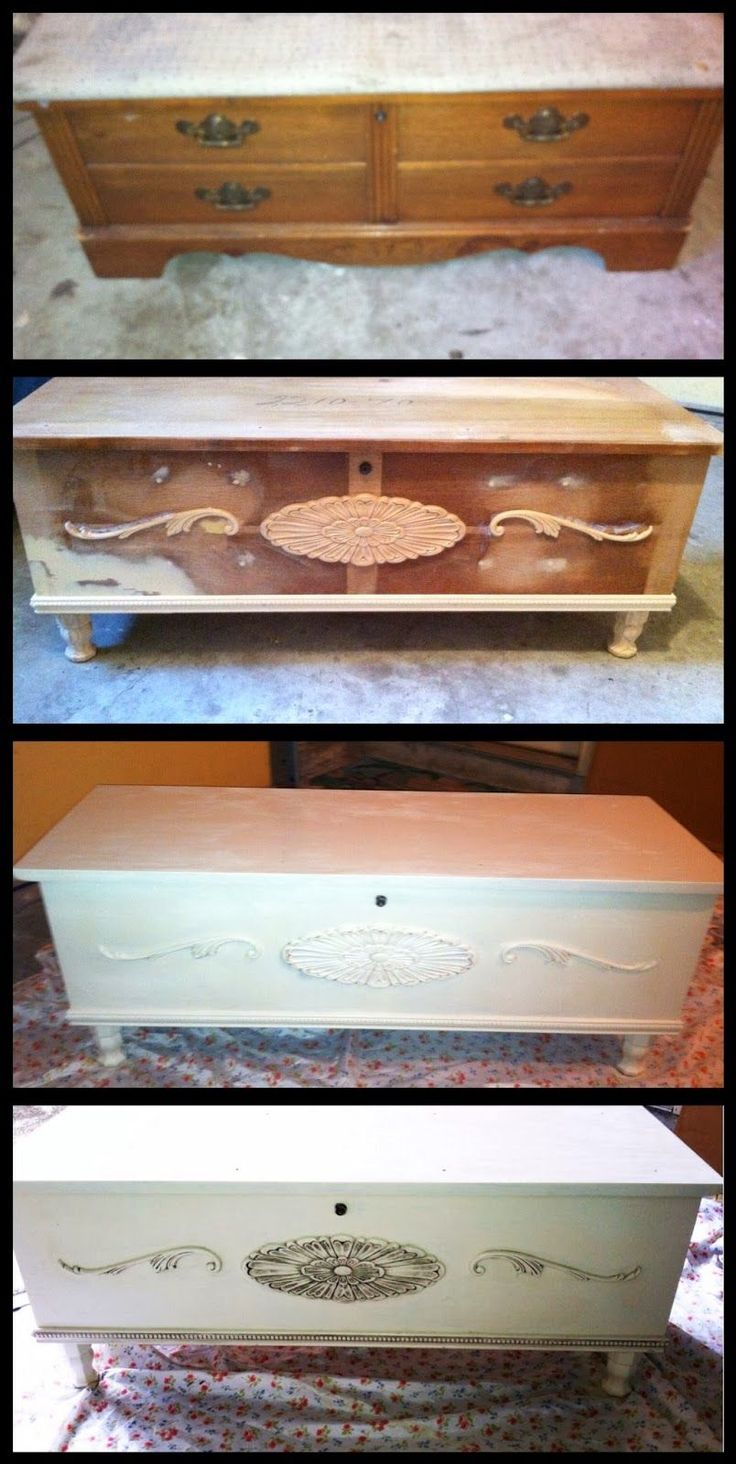 . : Hope chest before and after