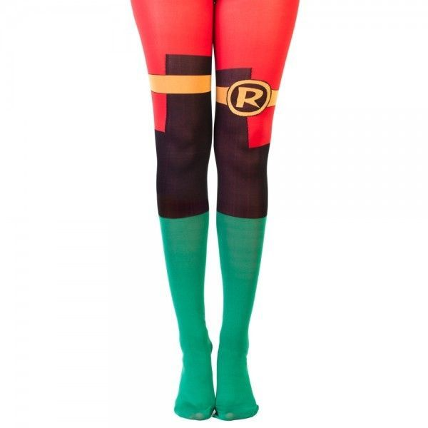 DC Comics Robin Suit Up 1 Pair Tights One Size Fits Most Batman Costume Cosplay…