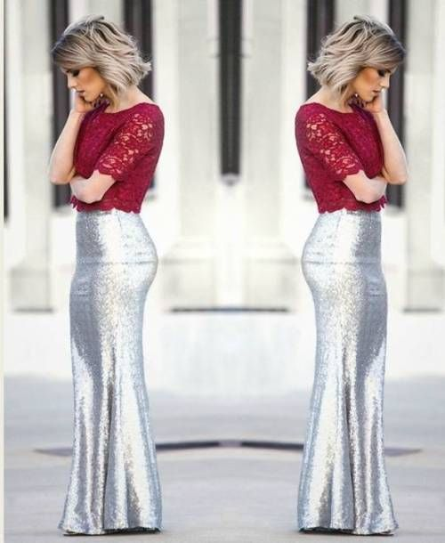 How to rock the sequin skirts - sea-spray-matte-silver-sequin-maxi-skirt
