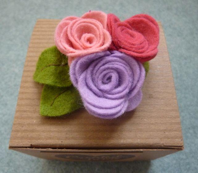 Beautiful Felt Rose Brooch £7.50
