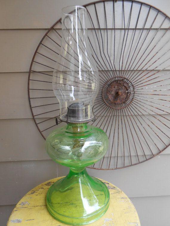 104 best vintage oil lamps images on pinterest antique for Depression glass floor lamp