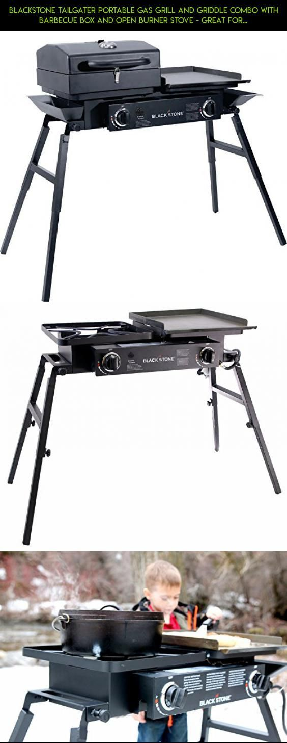 Blackstone Tailgater Portable Gas Grill and Griddle Combo With Barbecue Box and Open Burner Stove - Great for Hunting, Fishing, Camping and Tailgating #products #plans #tech #fpv #griddle #outdoor #shopping #drone #kit #parts #gadgets #cooking #technology #racing #camera