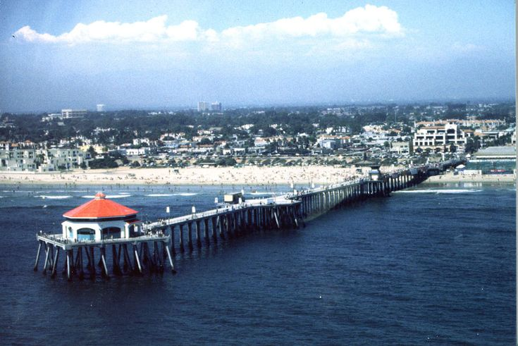 Huntington Beach California | Photo of Huntington Beach Pier and Downtown