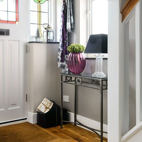 White and grey Art Deco style hallway | Hallway decorating | Ideal Home | Housetohome.co.uk