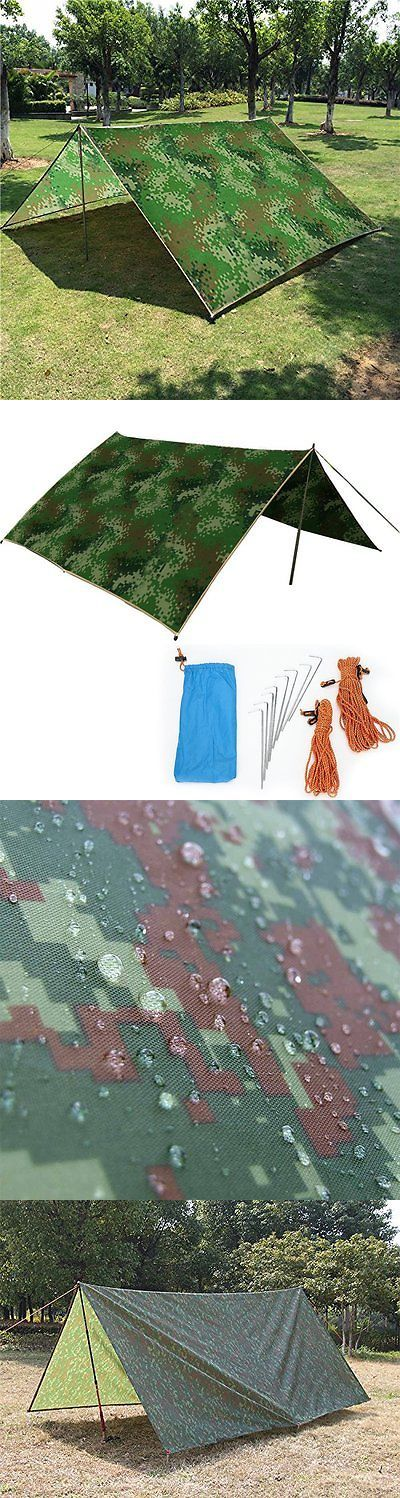 Tent and Canopy Accessories 36120: Camping Tarp 10 X 10 Ft Waterproof Sunshade Tarp Cover Tent Shelter Camping Camo -> BUY IT NOW ONLY: $37.55 on eBay!