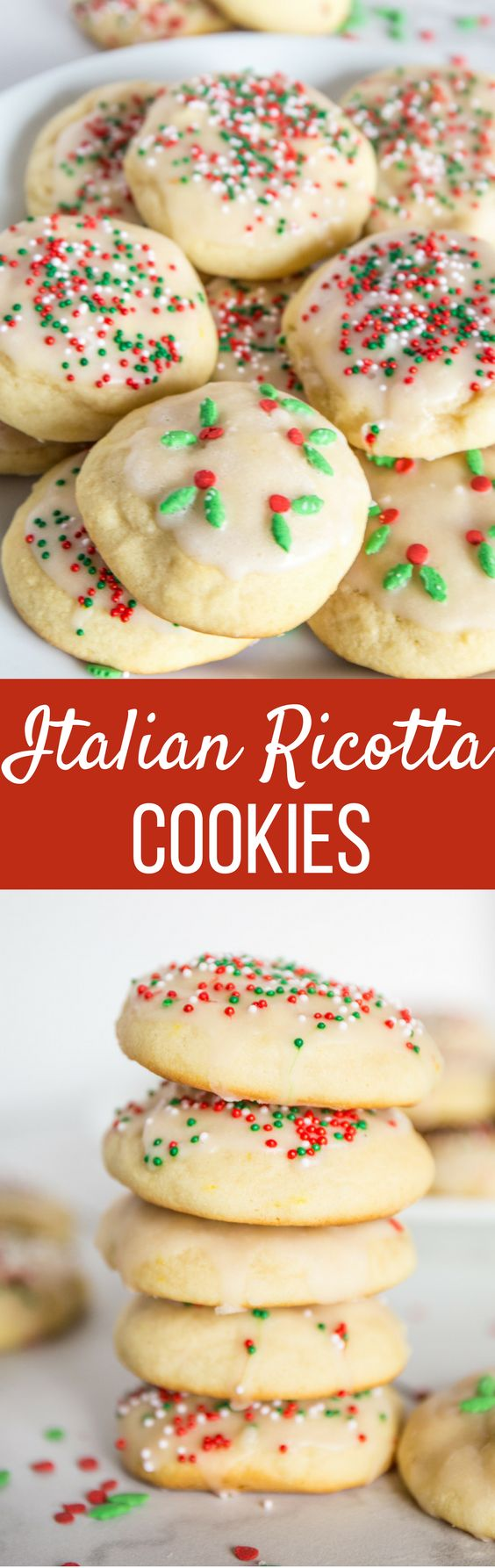 These Italian Ricotta Cookies are soft, delicate and flavored with just a hint of lemon. You won't be able to eat just one!