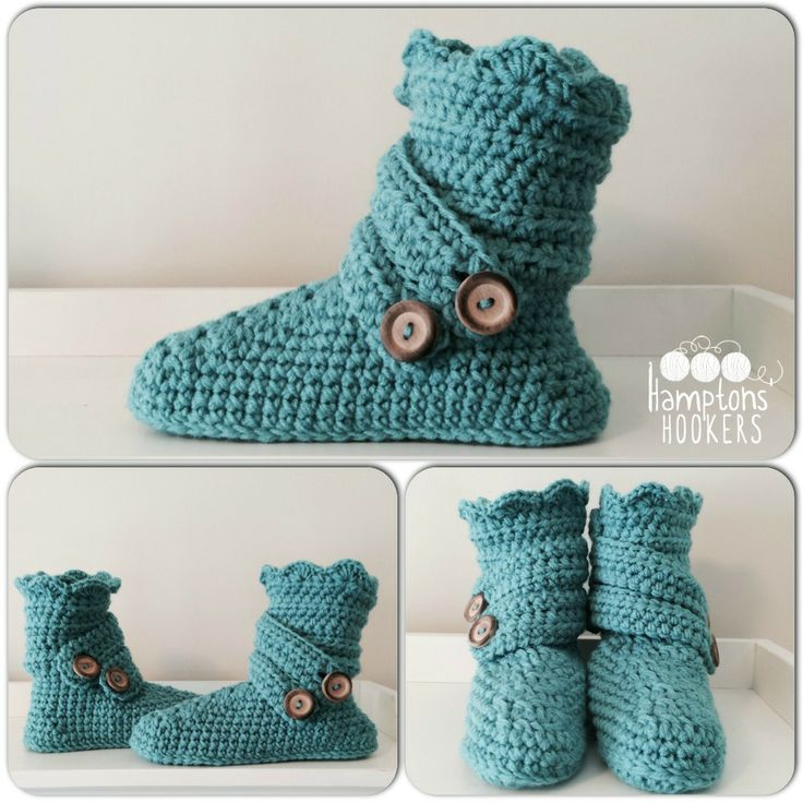 Crochet Slippers to keep your feet warm.  (www.facebook.com/hamptonshookers) #craftyab